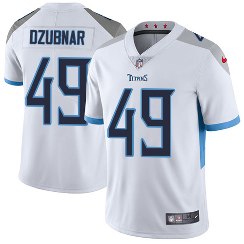 Youth Tennessee Titans #49 Nick Dzubnar White Stitched Vapor Untouchable Limited Jersey