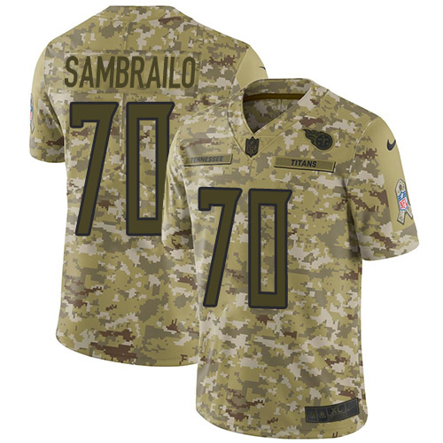 Youth Tennessee Titans #70 Ty Sambrailo Camo Stitched Limited 2018 Salute To Service Jersey